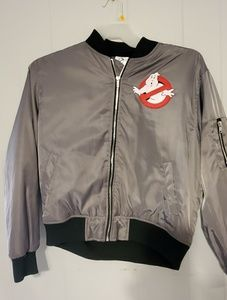 Forever 21Ghostbusters satin bomber jacket